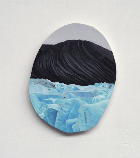 Mortenson_Heritage 2_8 2018, peinture à l'huile sur toile, diamètres maximums 44 x 38 cm