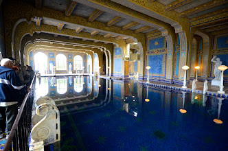 """Photo: 189. What if it was too cool out to swim in the outdoor pool? Well, you would need an equally impressive indoor pool, right? This one is underneath the tennis courts and marks the end of the """"Experience tour."""""""