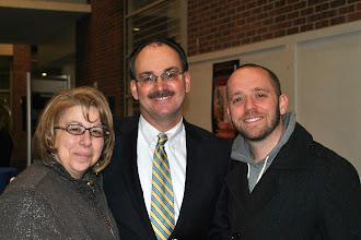Photo: BCCC Trustee, Carol Mignoni Ferguson, Grundy Foundation Director, Gene Williams and BCCC faculty member Greg Pezza