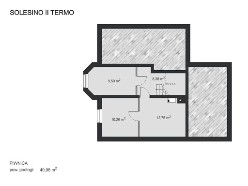 Solesino II Termo - Rzut piwnicy