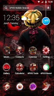 Red Scary Pumpkin Halloween theme????