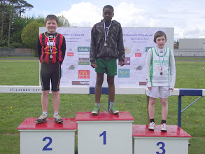 Photo: Jack Ryan, Moycarkey Coolcroo A.C., 2nd in the Boys U/12 80m Sprint at St. Lawerence O'Toole Sports 2012.