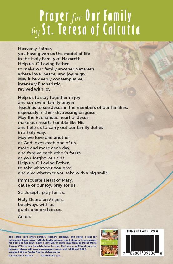 Prayer by St. Teresa of Calcutta