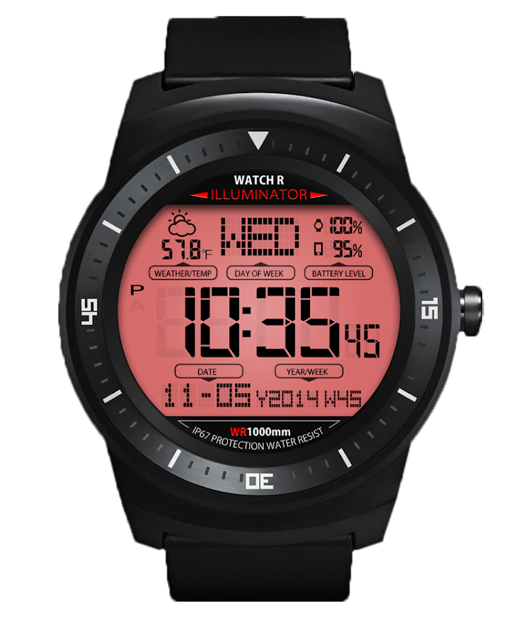 A45 WatchFace for Android Wear- screenshot