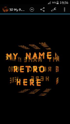 3D My Retro Name Wallpaper