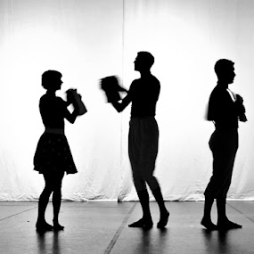 Shadows by Mirna Abaffy - People Musicians & Entertainers ( pwcprofiles dance people music, dane, pwcsilhouettemotion, shilouette, people, shadows )