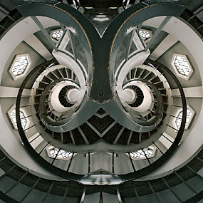 Twin Labirin by Alit  Apriyana - Buildings & Architecture Other Interior ( stair, pagoda, labirin, singapore, chinese garden )