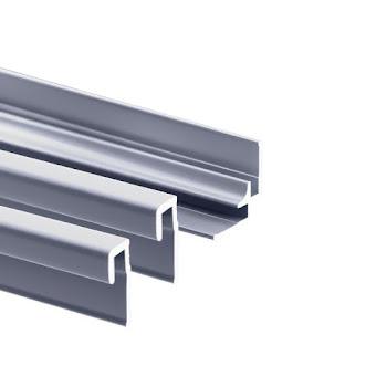 Lot : 2 profilés de finition + 1 profilé d'angle pour panneaux muraux Decodesign, alu-argenté