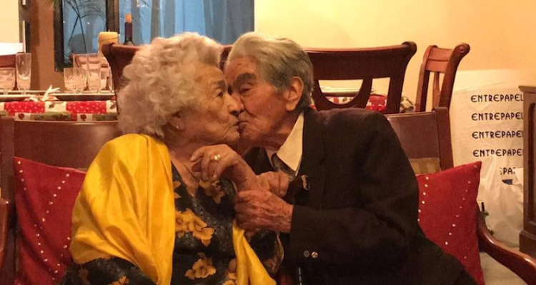 The world's oldest couple, Waldramina Maclovia Quinteros Reyes and Julio Cesar Mora Tapia have been married for 79 years.
