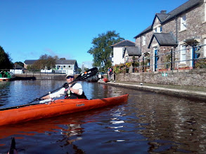 Photo: Richie at the start of the canal in Brecon.
