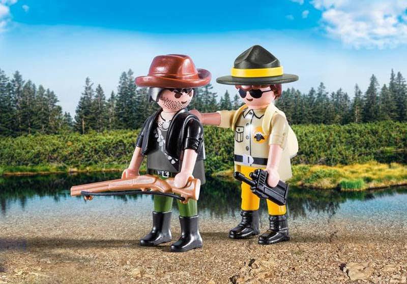 Contenido real de Playmobil® 9217 Duo Pack Ranger y Cazador Furtivo