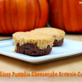 Skinny Pumpkin Cheesecake Brownie Cup