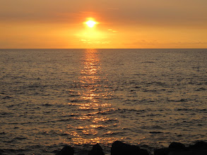 Photo: Sunset over the pacific as seen from Big Island