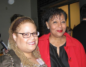 Photo: With former Women's Media Center President and former news anchor (WNBC and ABC), Carol Jenkins.