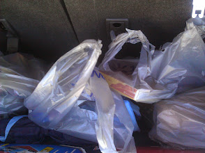 Photo: We loaded the groceries into the back of the car, and then we were all set for the 20 minute drive back home.