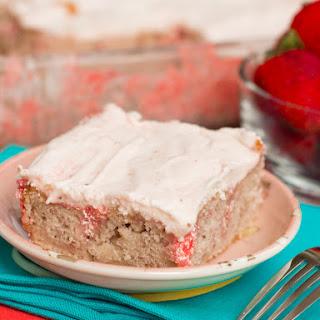 All Natural Cake Mix Strawberry Cake.