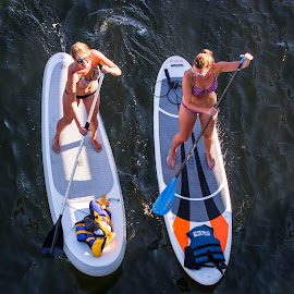 Look Ma! No lifejackets! by Richard Duerksen - Sports & Fitness Watersports ( watersport, paddleboards, victoria, women, bc )