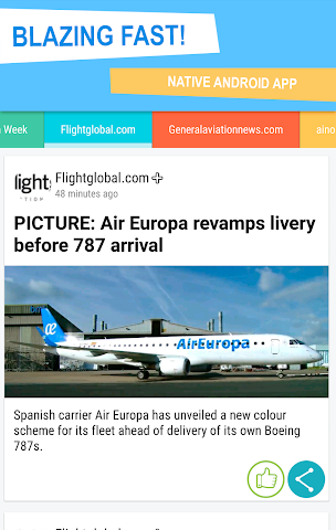 android Aviation news! Screenshot 1