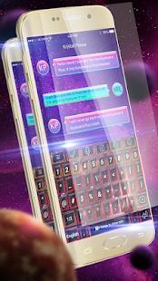 Fantasy Red Galaxy Keyboard - náhled