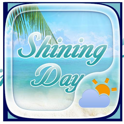 Shining Day GO Weather Widget Theme
