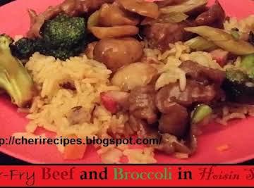 Stir-Fry Beef and Broccoli in Hoisin Sauce