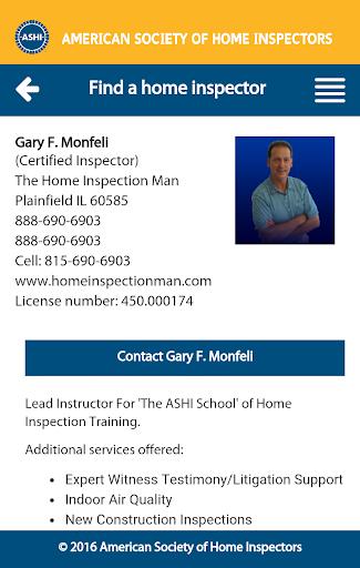 Home Inspector Search screenshot