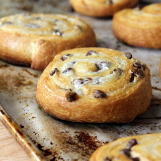 Chocolate Chip Crescent Cookies.
