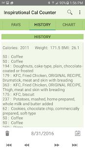 Inspirational Calorie Counter screenshot