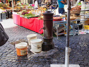 Photo: Roman market. The water comes from the Roman Aqueduct and is way better tasting than anything you can buy in a bottle.