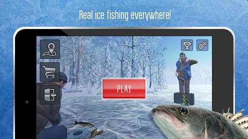 Ice fishing games for free. Fisherman simulator. screenshots 7
