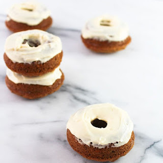 Carrot Cake Donuts with Yogurt Frosting Recipe
