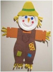 paper plate scarecrow craft idea | Scarecrow crafts, Crafts, Fall arts and  crafts