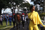 Miss SA Universe Tamaryn Green was a ray of sunshine in yellow at The Vodacom Durban July.