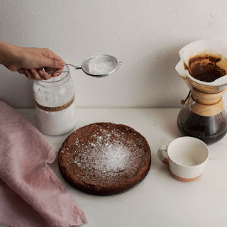 Crackily Chocolate Cardamom Meringue Cake.
