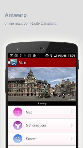 Screenshot 1 Karte von Antwerpen offline