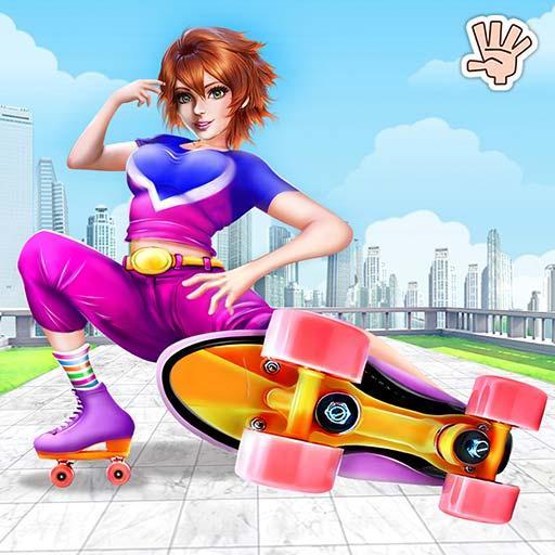 Roller Skating Girl Dance Club Dress Up Fashion