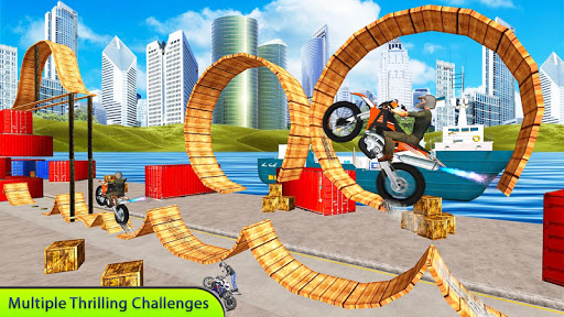 Tricky Bike Stunt Master Crazy Stuntman Bike Rider 1.0 screenshots 1