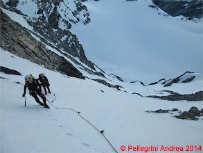 Photo: IMG_8902 Lorenzo e Riccardo nel canale di accesso a Passo Solda