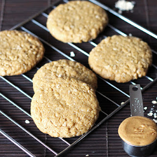 Chewy Peanut Butter Oatmeal Cookies.