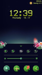 Lotus Pond Locker theme screenshot 1