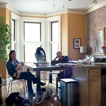 Photo: title: Nora Donnelly, Allen & Nadine Bush, Roxbuy, Massachusetts date: 2011 relationship: friends, art, met at Hampshire College years known: Nora 20-25, Allen 10-15