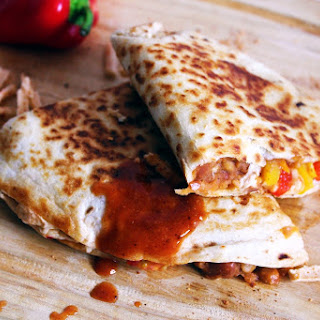 Vegan Pinto Bean & Pepper Jack Quesadilla