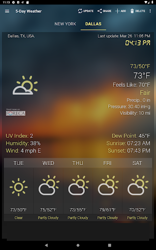 Weather & Clock Widget for Android screenshot 11
