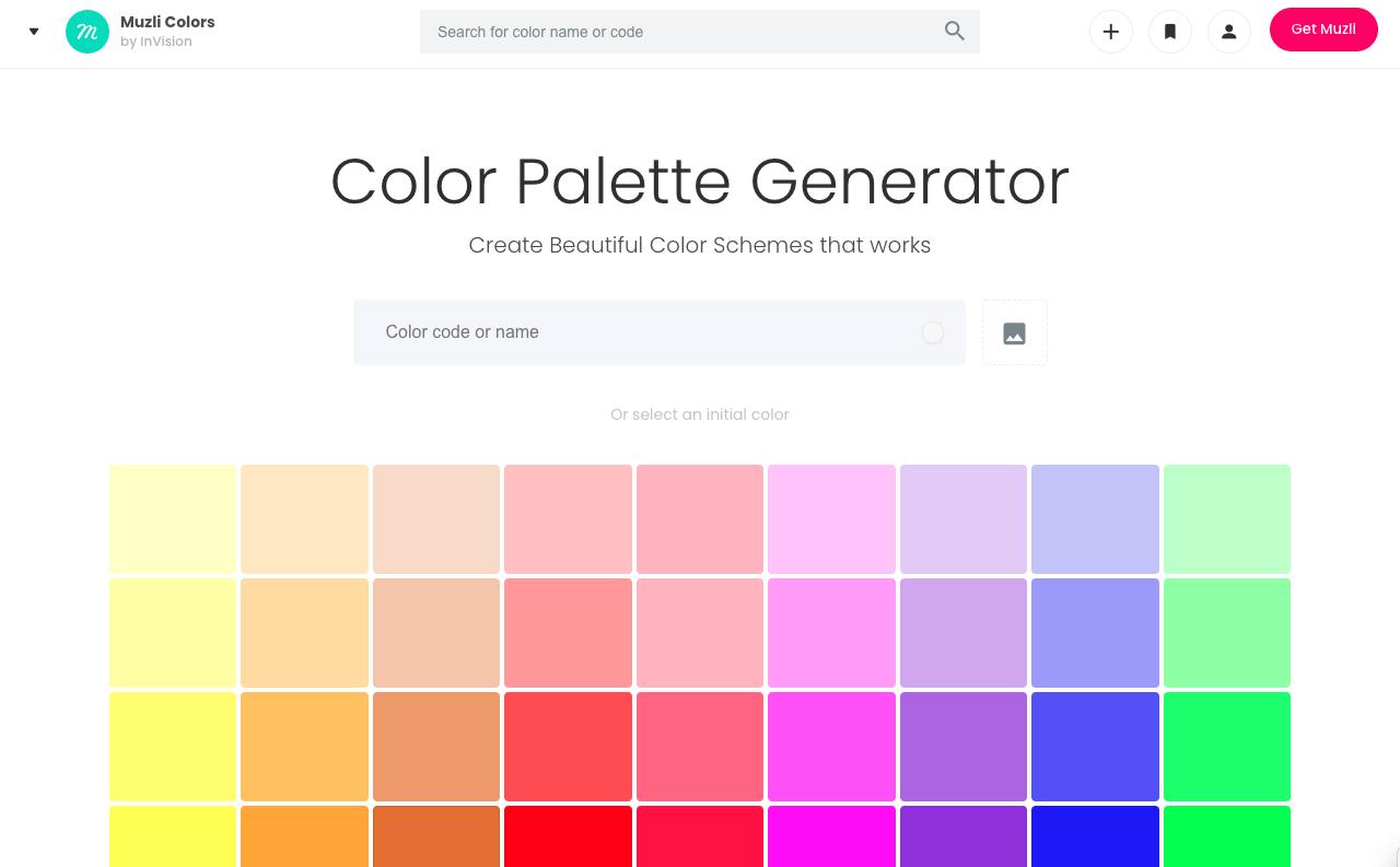 muzli color generator