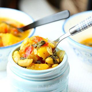 Slow Cooker Autumn Vegetable Soup.