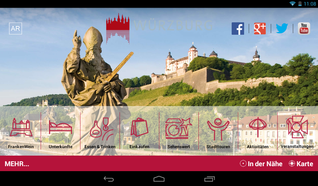 Würzburg - mobile travel guide- screenshot