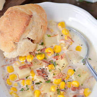Slow Cooker Corn Chowder.