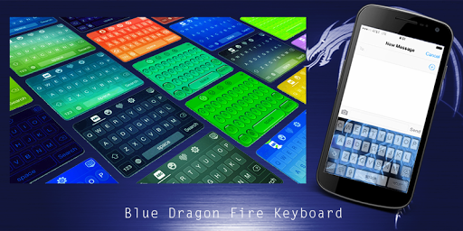 Blue Dragon Fire Keyboard