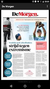 De Morgen digitale krant screenshot 0