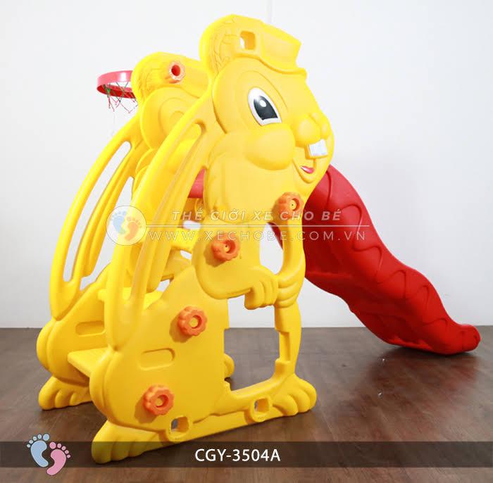 Cầu trượt cho bé hình thỏ YGC-3504A 3